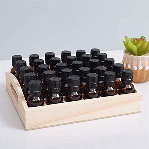 Caja de Almacenamiento de aceites Esenciales Organizador de Exhibición de Aceites Esenciales de Madera Soporte de 30 Ranuras para Botellas de 15 ml Colección de Esmaltes de Uñas