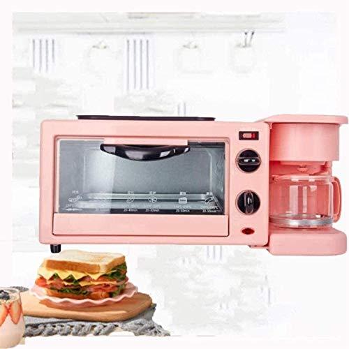 Máquinas para hacer pan 3 en 1, máquina multifunción para pan de desayuno, panificadora con hora de cita sin gluten, máquina para hacer pan de trigo entero para pizza y café sándwichtoast