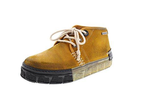 Yellow Cab Herren Check M Hohe Sneaker, Braun (Dark Yellow), 44 EU