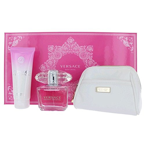 Amazon.com  VERSACE BRIGHT CRYSTAL 3 Piece Gift Set for Her (3 OZ EDT SPRAY 3.4 OZ BODY LOTION and Cosmetic Bag)  Beauty  sc 1 st  Amazon.com & Amazon.com : VERSACE BRIGHT CRYSTAL 3 Piece Gift Set for Her (3 OZ ...