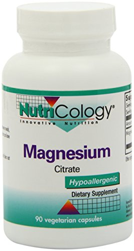 NutriCology Magnesium Citrate - Well-Absorbed, Bone and Stress Support - 90 Vegetarian Capsules