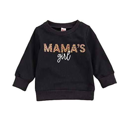 Bebé Niño Niña De Manga Larga Camisas Mamas Chica Pullover Sudadera Tops Otoño Traje Ropa Casual - blanco - 2-3 años