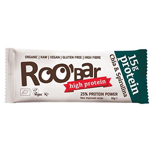 Roo'bar - Barrita proteica de Chía y Espirulina 60g