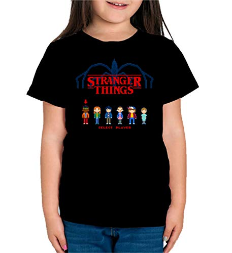 Camiseta de NIÑAS Stranger Things Once Series Retro 80 Eleven Will 012 9-10 años
