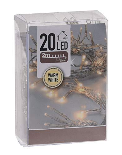 Spetebo LED Lichterkette mit 20 LED und Timer - batteriebetrieben - Farbe: warmweiss