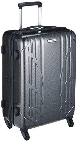 [ワールドトラベラー] スーツケース ナヴァイオ キャスターストッパー付 45L 55 cm 3.5kg ブラックカーボン
