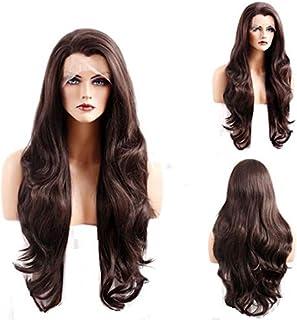 Kabello Silk Base Human Hair Wigs For Women Dark Brown Pack Of 1