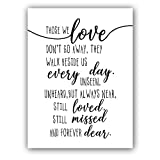 "Inspirational Home Accessory Art Print Set of 1 (12""X16"") Family Wall Picture Motivational Lettering Canvas Art Painting Loving Memory Wall Decor,Loving Gift,No Frame"