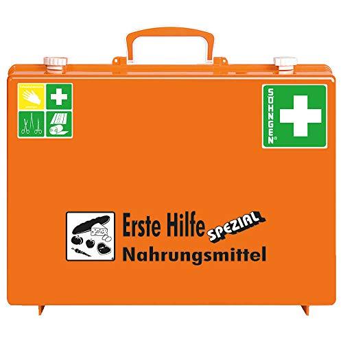 SÖHNGEN 0360109 Erste-Hilfe-Koffer Spezial Nahrungsmittel-Industrie, ASR A4.3 (DIN 13157) aus Kunststoff, mit PRÜFPLAKETTE