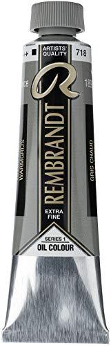 Talens Rembrandt - Excelentes colores de pintura al óleo - 40 ml - 718 Gris cálido