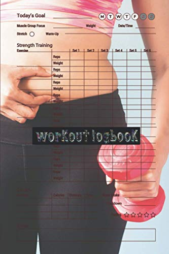 Workout logbook: Your Fitness logbook Over 145 Days of Workout Tracking and Goal Setting. Easily Keep Track of Your Workouts and Body Measurements click to see more