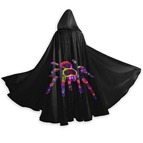 Amanda Walter Fasenix Colorful Tarantula Unisex Adulto Halloween Cape Cloak Disfraz de Mago Vampiro