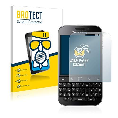 BROTECT Entspiegelungs-Panzerglasfolie kompatibel mit BlackBerry Classic Q20 - Anti-Reflex Panzerglas Schutz-Folie Matt