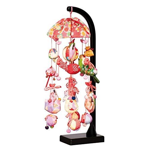 つるし飾り つるし雛 さくらあかり スタンド付 41cm 吊るし雛 吊るし毬 ひな人形 雛人形 御祝い品 桃の節句