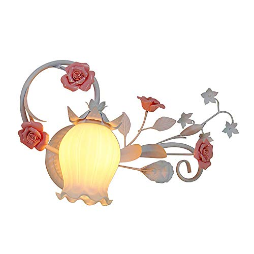 Tradicional E27 Lámpara de pared decorativas Florales Lámparas de Pared Estilo Provenzal Aplique de Pared Art Deco Appliques lámparas Clásica de Metal Luz de pared para Sala de Estar Dormitorio
