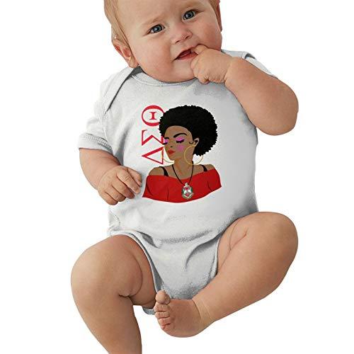 Delta Sigma Theta Baby Bodysuit Newborn Onesies Super Soft Cotton Comfy Toddler Clothes White