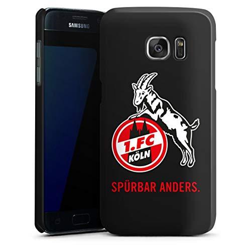DeinDesign Hard Case kompatibel mit Samsung Galaxy S7 Schutzhülle schwarz Smartphone Backcover 1. FC Köln Offizielles Lizenzprodukt transparent