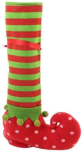 Christmas Boots Candy Bag Santa Gift Elf StockingsHoliday Christmas Stocking Candy Gift Bags 1pcs (Red, One Size)