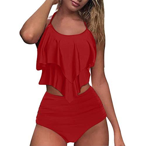 Conjuntos de Bikinis para Mujer 2021 Traje de baño de Mujer Trajes de Baño de Dos Pieza para Mujeres Tallas Grandes Bikini Sexy Estampado Bañador para Mujer