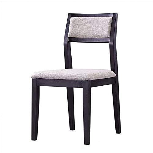 Laishutin Dining Chair Stoff Polster Parson Urban Style Küche Side Padded Stuhl mit Massivholz Beine Stühle Gastronomie Für Restaurants, Bankette (Color, Size : 43X48X83CM)