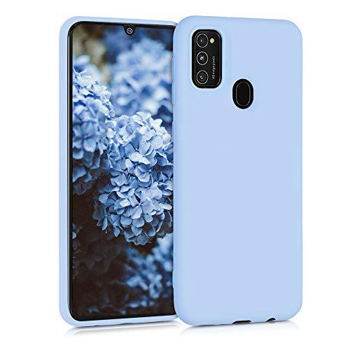 kwmobile Cover Compatibile con Samsung Galaxy M21 - Custodia in Silicone TPU - Backcover Protezione Posteriore- Blu Chiaro Matt