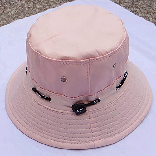 Roshow Pescador Sombrero Masculino al Aire Libre Benny Sombrero de Standing Pesca Gorra Hembra Plegable Sol Sombrero Sombrero Sombrero Sombrero Sombrero Sombrero-Rosado_M (56-58cm)