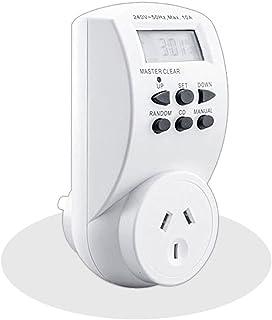 Sansai 7 Day/24hrs Outlet/Powerplug Digital Timer 2400W 240V 10A Max LCD White