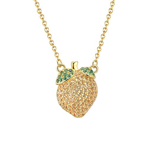 RQQ S925 Sterling Silver Necklace Fruit Necklace Women's Necklace