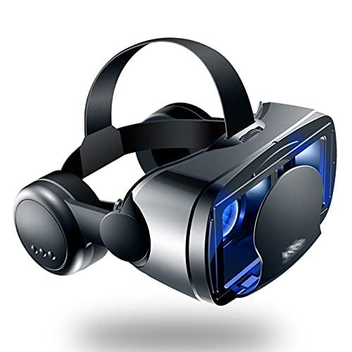 LIUXING-Home Gafas De Realidad Virtual BLU-Ray Eye Protection Teléfono Móvil Casco de Realidad Virtual 3D VR Gafas Auriculares Auriculares Gafas Lo Mejor para Juegos y Películas.