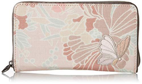 Sakroots Damen Large Zip Around Wallet Geldbörse, Blütenblätter Rosa Blüten, Einheitsgröße
