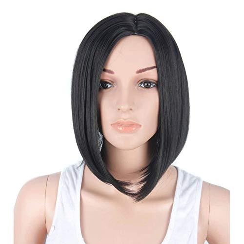 Pruik Vrouw synthetische zwarte pruik kort haar steil haar kort bobo zwarte chemische vezel pruik hoofdtooi