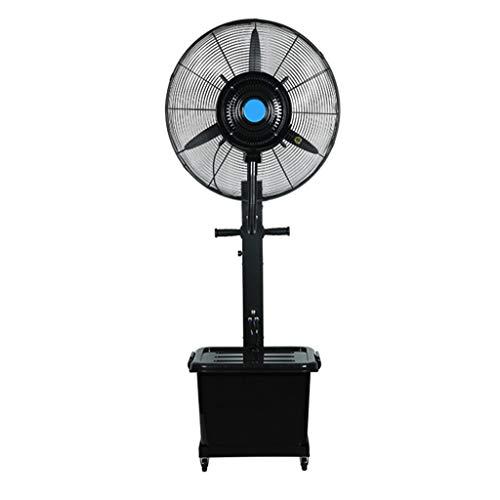 ZRFANS Airconditioning, ventilator, industriële sproeiventilator, high-performance doos, handmatig toevoegen van watersproeiventilator, 3 koppelingen, 42 l, watertank (vast, maat: 710 mm/810MM)