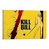 GUOHUI Póster de película Blu Ray Kill Bill Póster decorativo en lienzo para pared, sala de estar, dormitorio, 50 x 75 cm