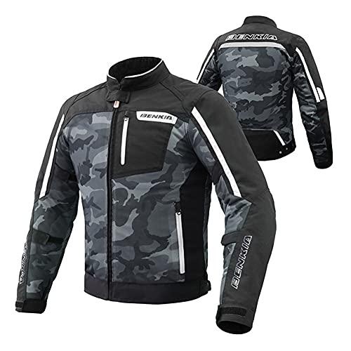 LALEO Chaqueta de Moto, con Forro Cálido Extraíble Armours Impermeable Chaqueta para Motocicleta, Armours CE, para Unisex