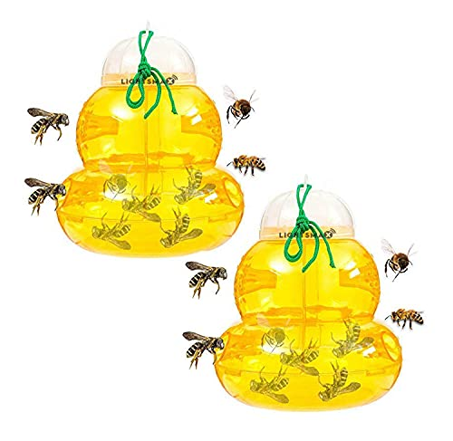 Wasp Trap Bee Traps Jar | Hornet Trap Yellow Jacket Trap Attracts Hornets Yellow Jackets Bees Wasps...