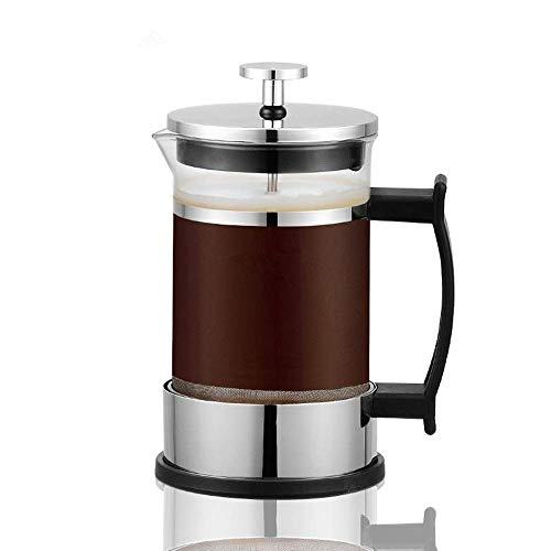 HYY-YY Café francés de Prensa Bote de Vidrio Cafetera Francesa Inicio Manual de Filtro de té Taza del Filtro de Acero Inoxidable de café Base Maker (Color: Claro, Tamaño: 350 ml)