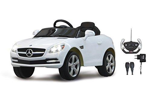 Jamara 404607 - Ride-on Mercedes SLK wit 27MHz 6V - kinderauto, krachtige motor en accu, tot 90 min. Rijtijd, ultra-grip rubberen ring op het aandrijfwiel, aansluiting van audiobronnen, geluid, licht.