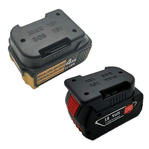6PCS Akkuhalter Wandhalterung für 18V/14.4V Makita and Bosch Akkus   Stealth Mounts Aufbewahrung   Akku Clip   Gürtelclip   Batterie Halterung