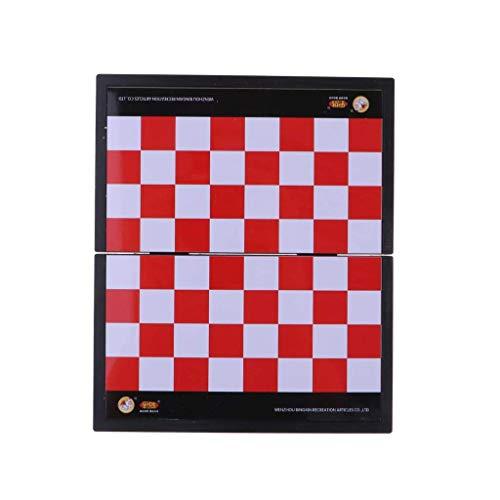Cxcdxd Juego de Damas, plástico Plegable, Piezas de ajedrez internacionales, Juego de Tablero de ajedrez, Juguete para niños, ajedrez, Juegos de Rompecabezas, Juego de ajedrez