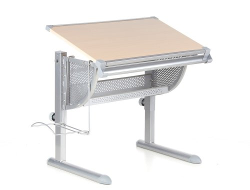 hjh OFFICE Table, Melamine Resin Laminated Chipboard, Powdered-Co,...