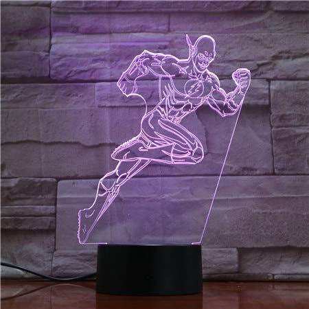Gerechtigkeit Spiel Film League The Flash Bestseller Hologramm Nachtlicht 3D LED USB Tischlampe Kinder Geburtstagsgeschenk Nachtzimmer Dekoration