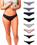 Emprella Cotton Underwear Women, 8 Pack Womens Bikini Seamless Ladies Cheeky Panties S-XL (Medium, Assortment 2)