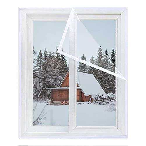 HZWDD Window Insulation Film, Cold Protection Shrink Window Kit Winter Thicken Warm Curtains For Bedroom, Custom Size Tarpaulin