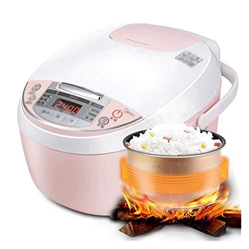 X-LSWAB Stew Slow Cooker Multi Cooker Mini Electric Suppentopf 24-Stunden-Termin Smart-Stew One Key Öffnen Sie den Deckel geeignet for Dampf-Koch-Eintopf wohlschmeckend Familie Küche (Color : Pink)