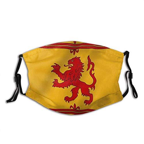 Hirola Gesichtsschal, Schottland Rampant Löwe Flagge Schottische Rampant Löwen Flaggen Modischer Mundschutz für Autoauspuff