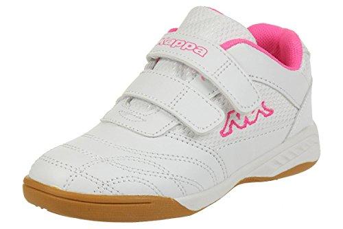 Kappa Mädchen Kickoff Low-Top, 1027 white/l`pink, 30 EU