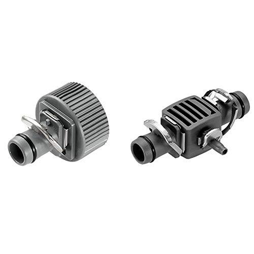 GARDENA Macho, Standard & Micro-Drip-System Reduzier-T-Stück 13 mm (1/2 Zoll) - 4,6 mm (3/16 Zoll), Praktische T-Verbindung der Sprühdüsen im Verlegerohr