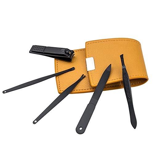 Kit de pedicura Manicure Nail Clippers Set Manicure Nail Clippers Pedicure Set Portable Viaje de acero inoxidable Cortador de uñas Herramienta Set de manicura (Color : Black)