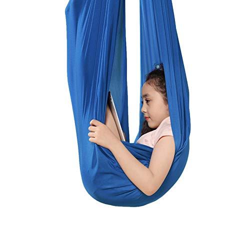 WCX Sensorische Hängematte für den Innenbereich, verstellbar, ideal für Autismus, ADHS und SPD, wirkt beruhigend auf Kinder mit Bedürfnissen, Farbe: Blau, Größe: 1,5 x 2,8 m