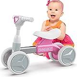 Bicicleta sin Pedales para niños a Partir de 1 año, Bici sin Pedales Niño Juguete para niños de 12 a 36 Meses, Regalos de Cumpleaños de Navidad Bebes de 1 Año, Rosa
